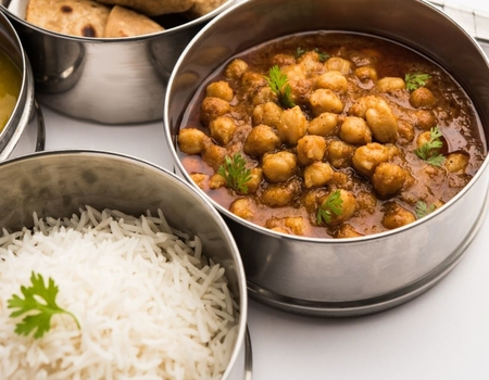 Channa with Rice